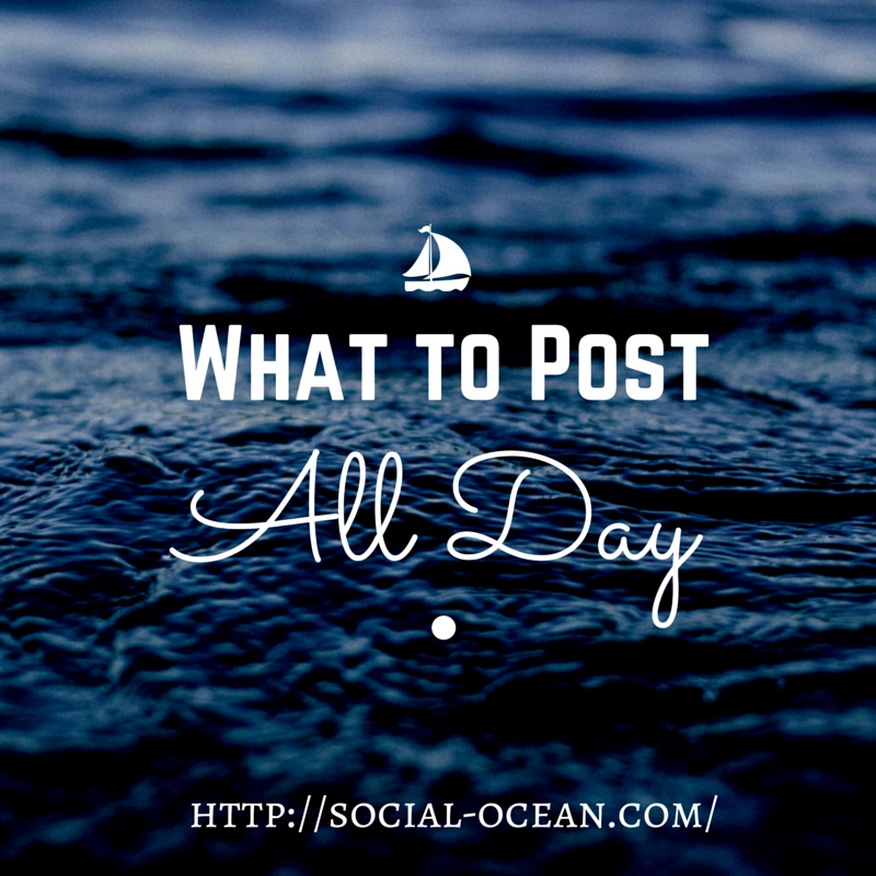 What To Post All Day